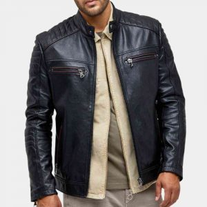 Quilted Leather Jacket Mens