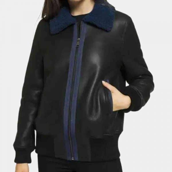 Leather Shearling Coat Women