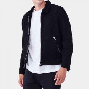 Black Suede Blazer Jacket