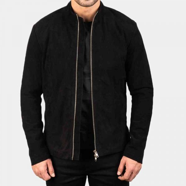 Black Suede Jacket Mens