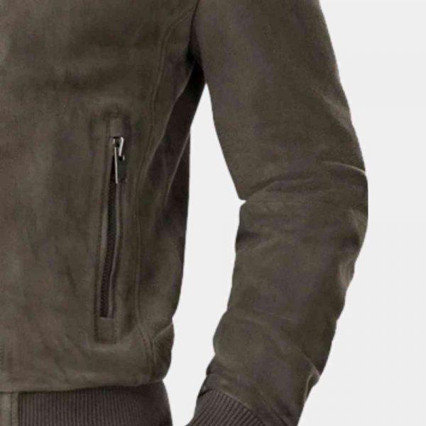 Grey Suede Biker Jacket Mens in usa