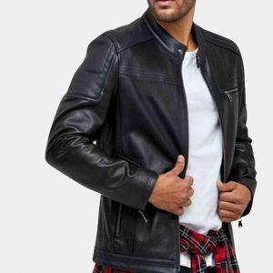matte black leather jacket mens