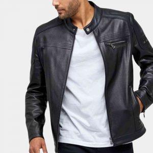 Matte Black Leather Jacket