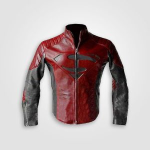 Superman Black and Red Leather Jacket