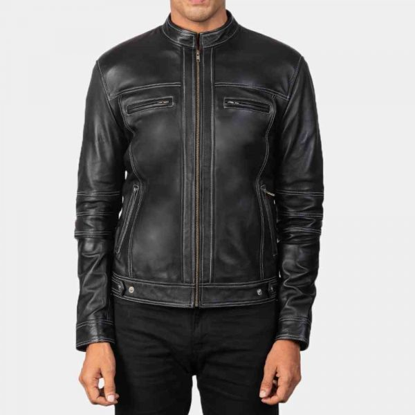 black cafe motorcycle jacket