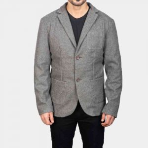 wool grey blazer mens