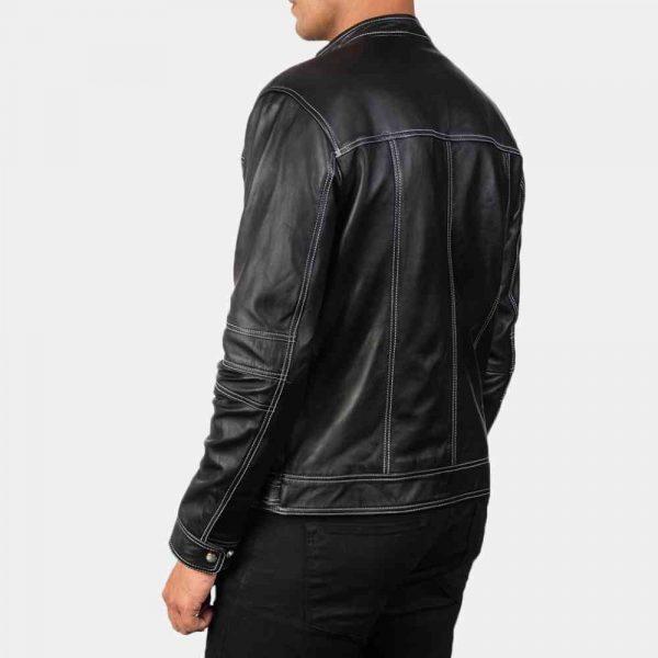 mens cafe leather jacket