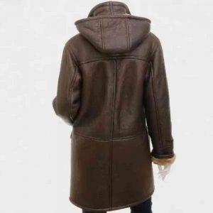 Ladies Leather Duffle Coat