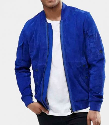 Royal Blue Suede Jacket