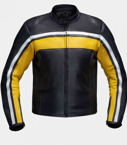 yellow black motorcycle jacket
