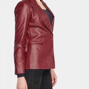 blazer women red