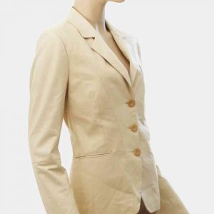 cream colored blazer womens