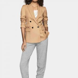 womens camel colored wool blazer